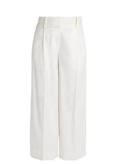 Diane Von Furstenberg High-rise linen-blend culottes
