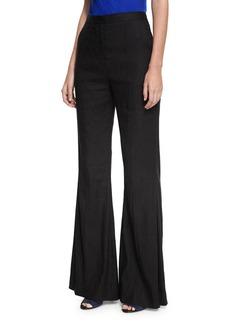 Diane von Furstenberg High-Rise Pleated-Front Flared Pants
