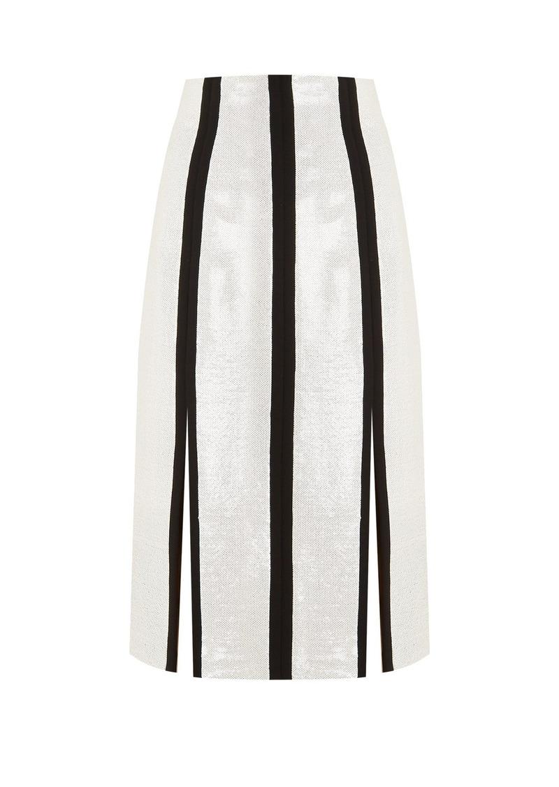 6024daff7e Diane Von Furstenberg High-rise sequin-embellished midi pencil skirt