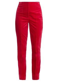Diane Von Furstenberg High-rise skinny-leg velvet trousers