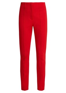 Diane Von Furstenberg High-rise skinny stretch-crepe trousers