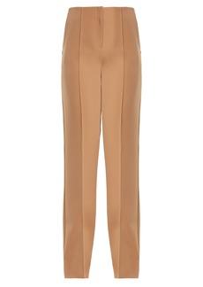 Diane Von Furstenberg High-rise straight-leg crepe trousers