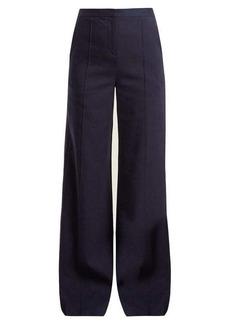 Diane Von Furstenberg High-rise wide-leg crepe trousers