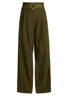 Diane Von Furstenberg High-rise wide-leg stretch-wool trousers