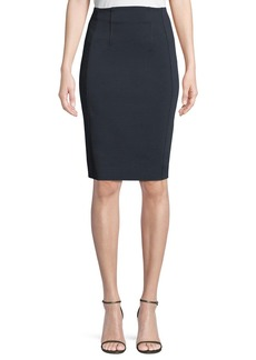 Diane von Furstenberg High-Waist Fitted Pencil Skirt