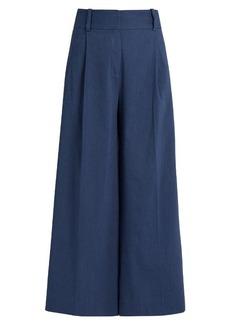 Diane Von Furstenberg High waist linen-blend culottes