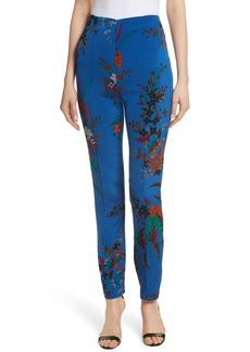 Diane von Furstenberg High Waist Print Skinny Pants