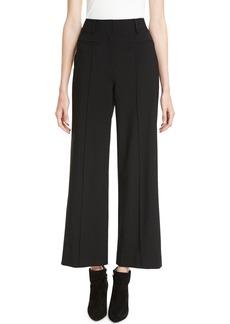 Diane von Furstenberg High-Waist Seam Wool Culotte Pants