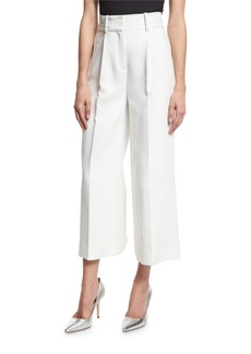 Diane von Furstenberg High-Waist Single-Pleat Culottes