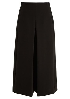Diane Von Furstenberg High-waisted crepe culottes