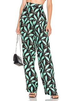 Diane von Furstenberg High Waisted Wide Leg Pant