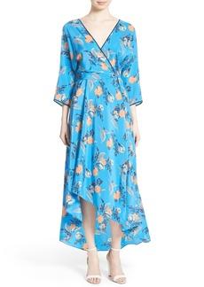 Diane von Furstenberg High/Low Floral Silk Maxi Dress