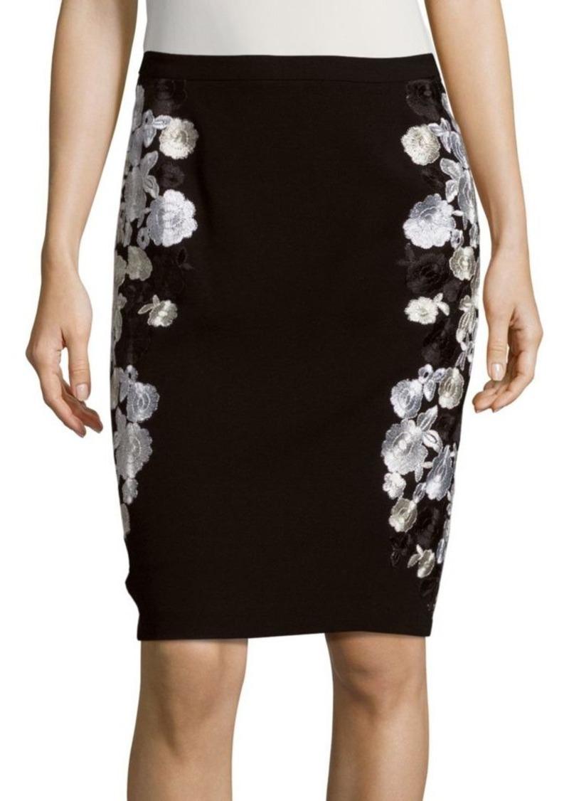 Diane von Furstenberg Hillari Embroidered Pencil Skirt