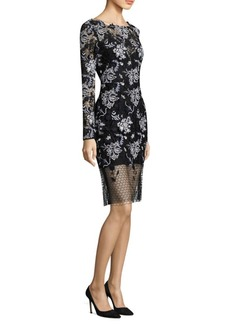 Diane Von Furstenberg Illusion Lace Sheath Dress