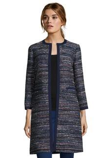 Diane Von Furstenberg indigo and pink tweed 'Nalda' op...