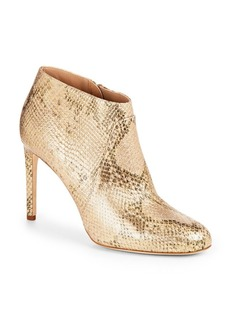 Diane von Furstenberg Irma Gold Leather Booties