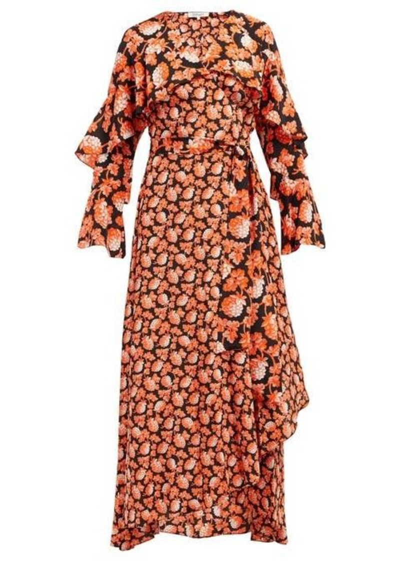 Diane Von Furstenberg Isla berry-print silk wrap dress