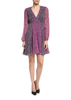 Diane von Furstenberg Ivetta Long-Sleeve Printed Chiffon Dress