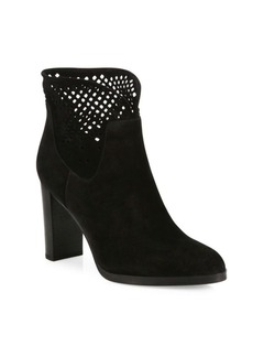 Diane von Furstenberg Jaen Mesh & Suede Point-Toe Booties