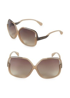 Diane von Furstenberg Jayda 62MM Oversized Square Sunglasses