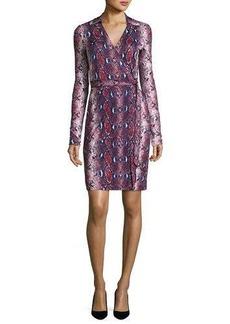 Diane von Furstenberg Jeannae Snake-Print Silk Wrap Dress