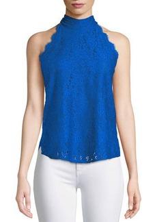 Diane von Furstenberg Jemmie Floral Lace High-Neck Top