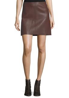 Diane von Furstenberg Jenny Lamb Leather Mini Skirt