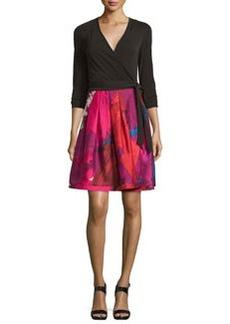 Diane von Furstenberg Jewel Wrap Dress w/Mikado Skirt