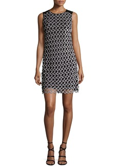 Diane von Furstenberg Joylyn Embellished Cocktail Dress