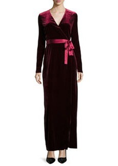 Diane von Furstenberg Julian Velvet Wrap-Front Maxi Dress