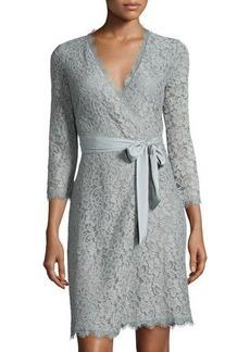 Diane von Furstenberg Julianna 3/4-Sleeve Lace Wrap Dress