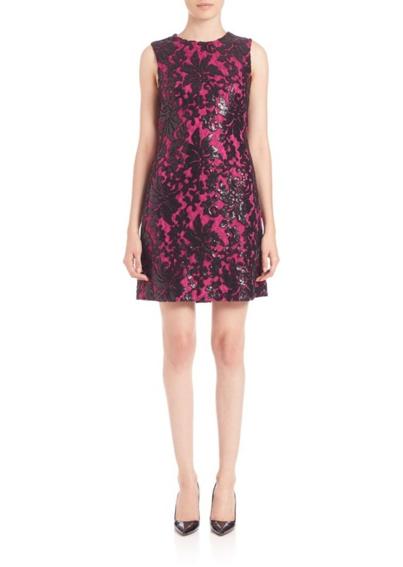 Diane Von Furstenberg Kaleb Embellished Shift Dress