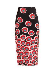 Diane Von Furstenberg Kara blossom-print pencil skirt