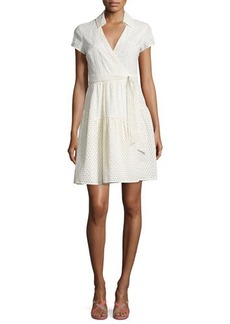 Diane von Furstenberg Kayley Two Eyelet Wrap Shirtdress