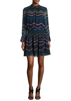 Diane von Furstenberg Kelley Encore Printed Blouson Dress