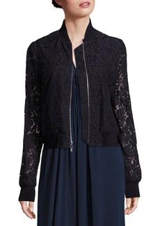 Diane von Furstenberg Kennadie Lace Bomber Jacket