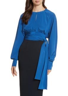 Diane von Furstenberg Keyhole Silk Blouse