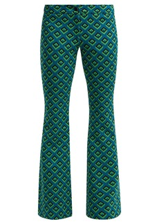 Diane Von Furstenberg Kick-flare jacquard trousers