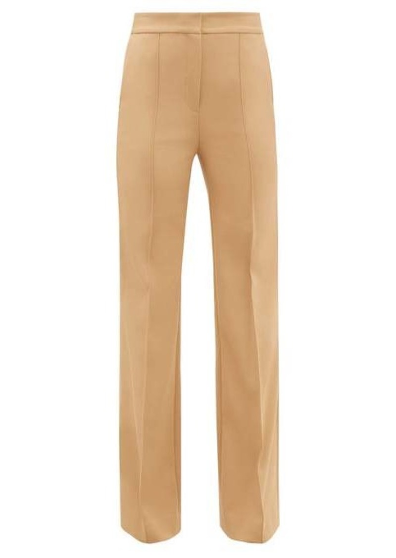 Diane Von Furstenberg Kimberley flared-cuff technical-twill trousers