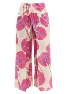 Diane Von Furstenberg Kimono Leaf-print cotton-blend culottes