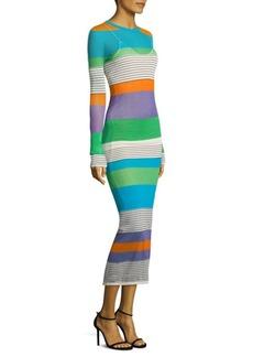 Diane von Furstenberg Knit Colorblock Midi Dress