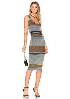 Diane von Furstenberg Knit Midi Dress in Gray. - size L (also in M,S)