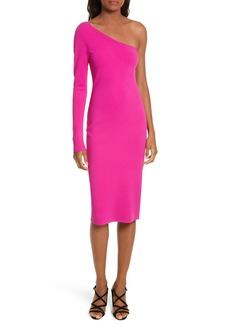 Diane von Furstenberg Knit One-Shoulder Midi Dress