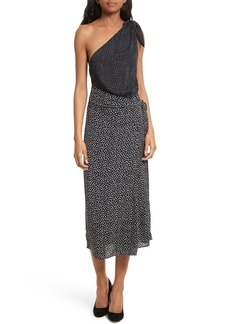Diane von Furstenberg Knot Detail One-Shoulder Dress