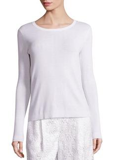 Diane Von Furstenberg Kylee Merino Wool & Silk Blend Top