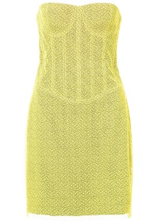 Diane Von Furstenberg lace corset dress - Yellow & Orange