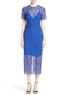 Diane von Furstenberg Lace Midi Sheath Dress
