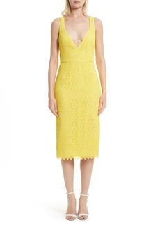Diane von Furstenberg Lace Midi Sheath Dress