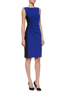 Diane von Furstenberg Laura Sleeveless Ruched Sheath Dress