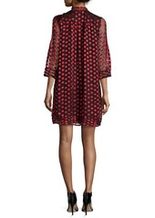 Diane von Furstenberg Layla 3/4-Sleeve Polka-Dot Sheath Dress